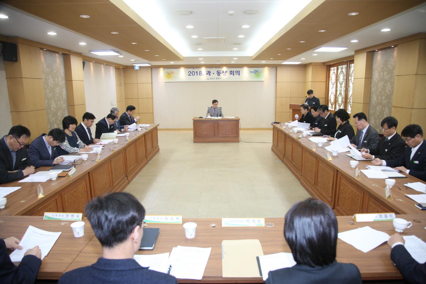 2018년 4월 과동장회의