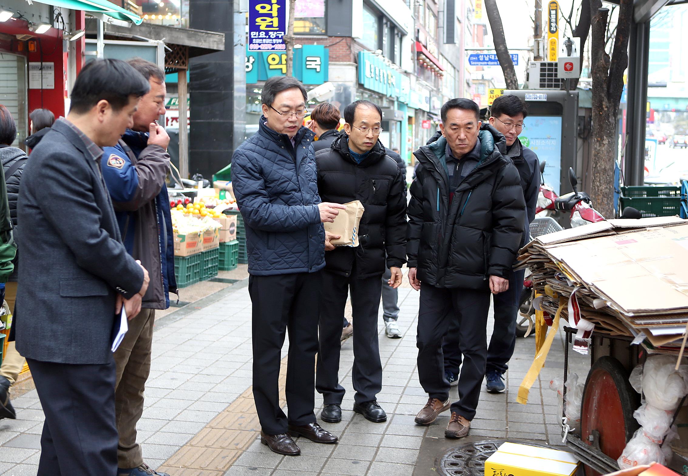 모란민속시장 이전현장 점검